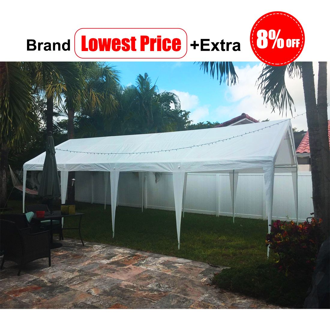 Brand Lowest Price Extra 8 Off Free Accessories Free Delivery Code Jwswkbl5 Outdoor Gazebos Canopy Tent Party Tent