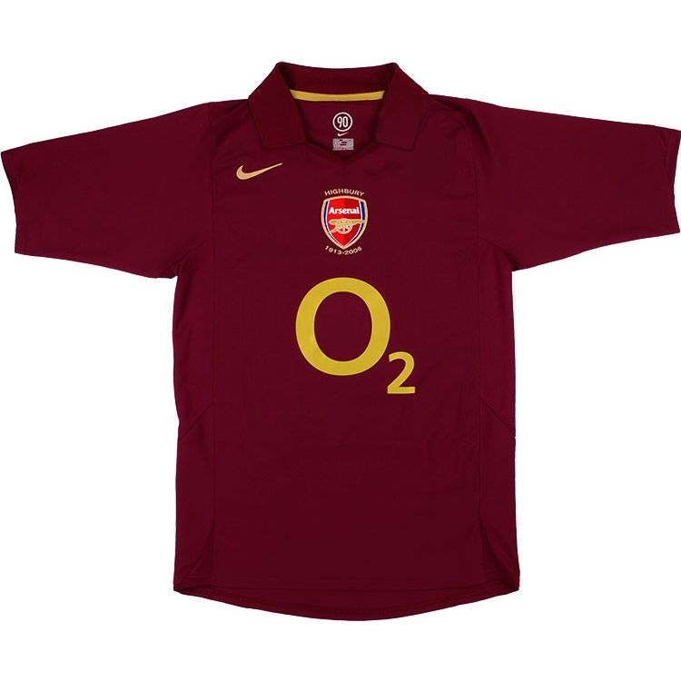 a1b3e278896 2005-06 Arsenal Home Shirt (Excellent) S for just £119.99. Condition ...