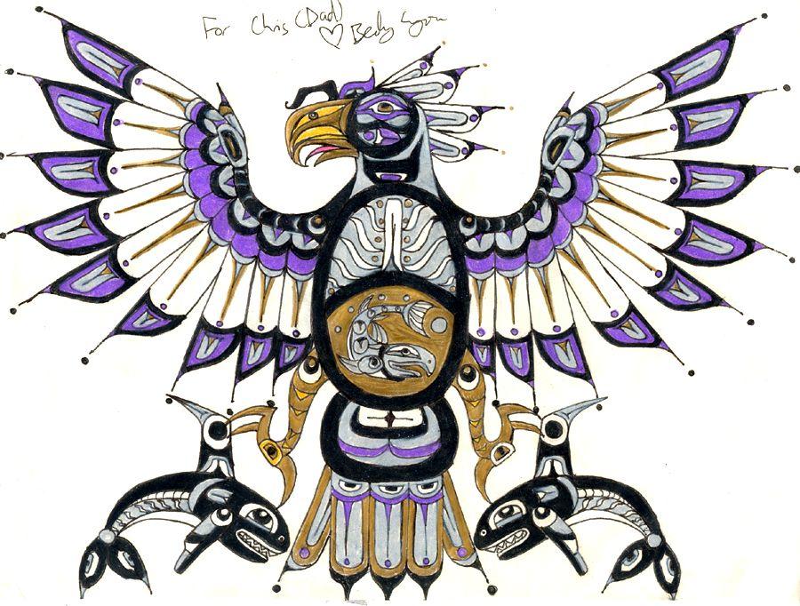 Thunderbird Art Nativenative American Haida Thunderbird