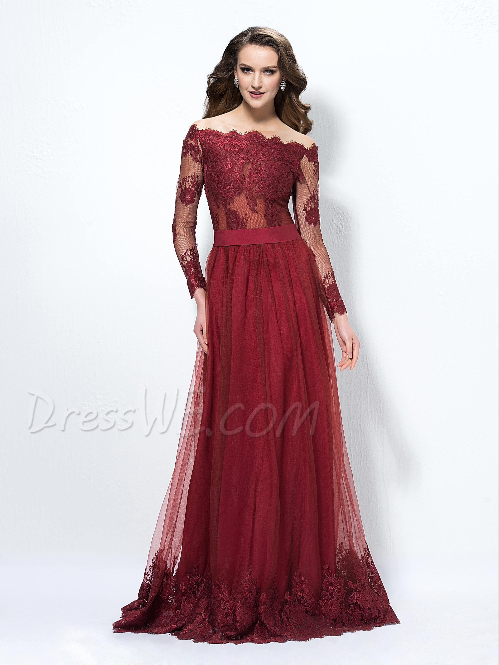 $143.99 Dresswe.com SUPPLIES Off-The-Shoulder A-Line Sleeves Chinese ...