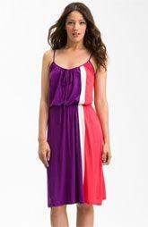 FELICITY & COCO Colorblock Blouson Tank Dress