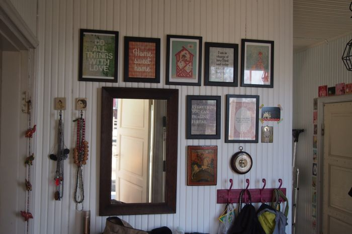 Like the framed poster prints in the hallway : Lovely blogg about food and living in an old wooden house in Finland