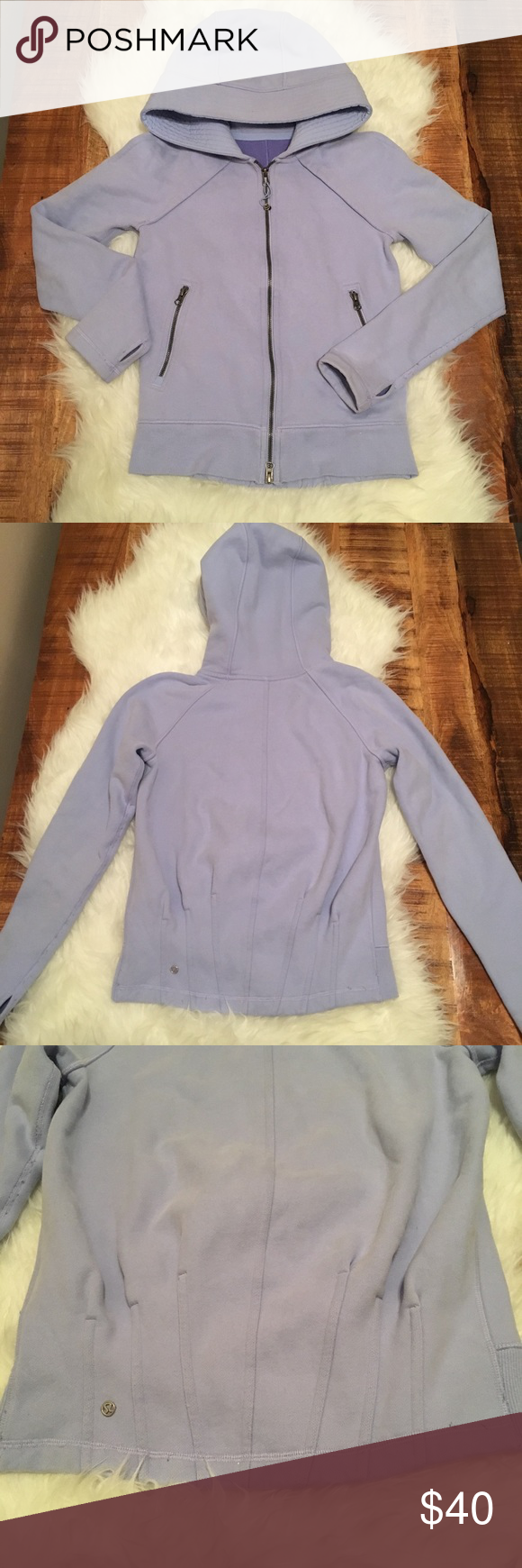 Lululemon fleece lined zip up hoodie sweatshirt lululemon