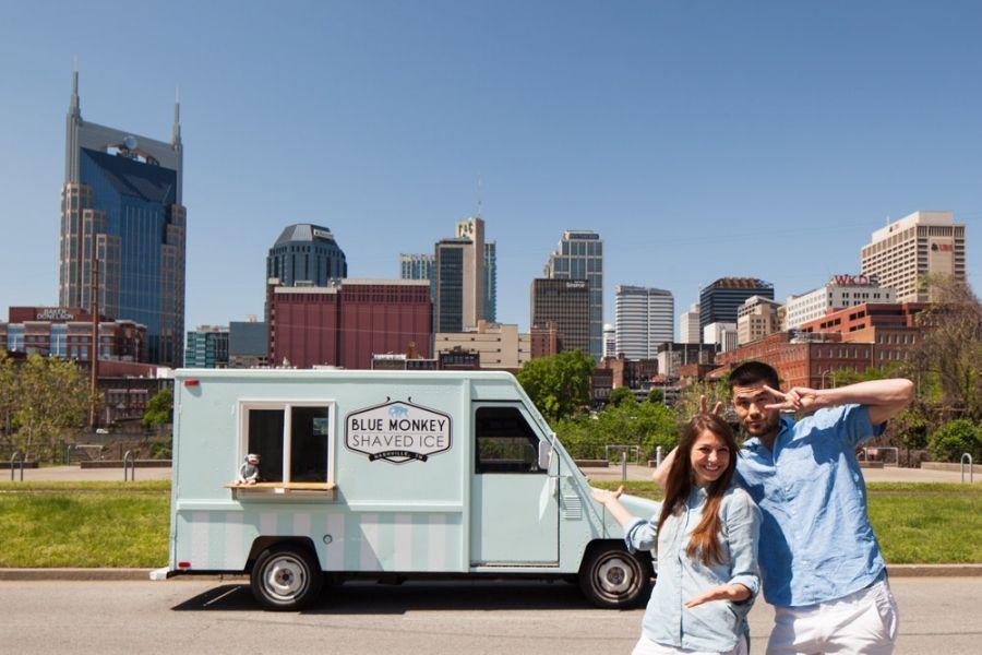 Blue Monkey Shaved Ice NFTA Nashville Food Truck