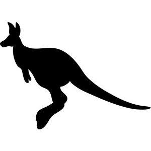 free kangaroo clip art image hopping kangaroo silhouette rh pinterest ca kangaroo clipart transparent kangaroo clipart outline