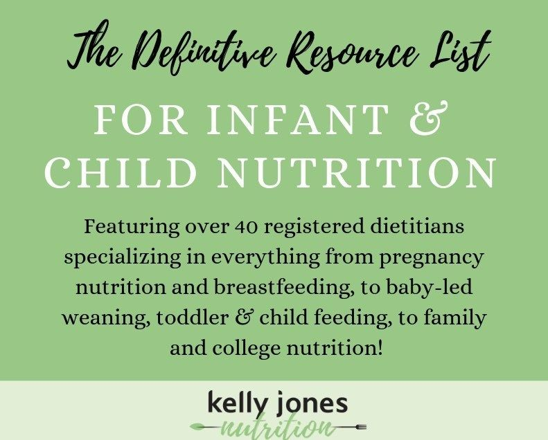 The Definitive Resource List for Infant & Child Nutrition #childnutrition