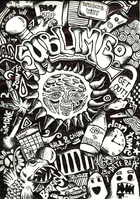 Pin By Gina George On Music As Medicine Psychedelic Art Trippy Drawings Sublime Tattoo