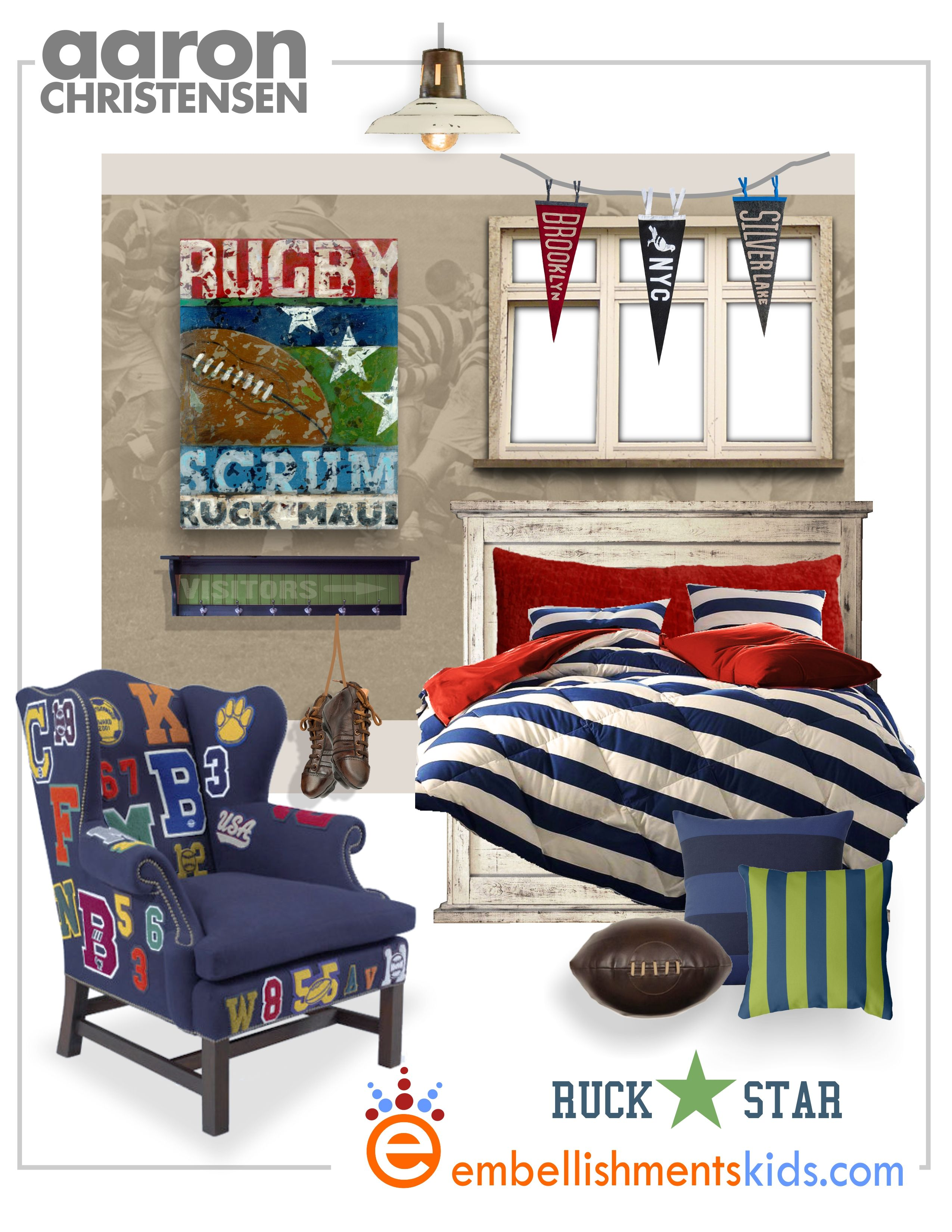 rugby ruck star bedroom ideas by kids room designer and artist aaron rh pinterest com