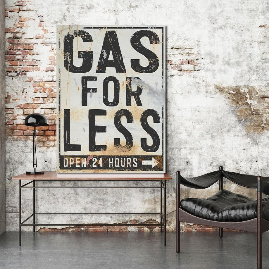 Vintage Signs Gas For Less Old Signs Antique Signs Metal Sign