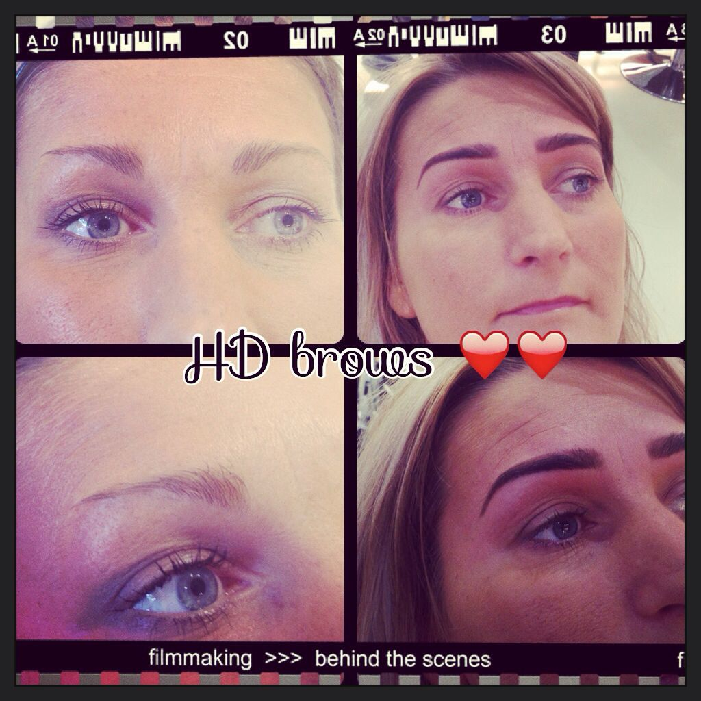 Hd brows before and after..