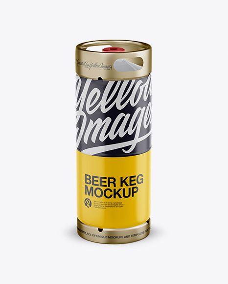 20L Matte Beer Keg Mockup