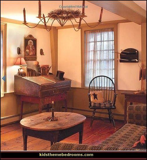 Colonial Home Design Ideas: Primitive Americana Decorating Style