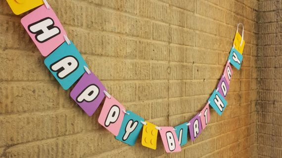 This Lego Friends birthday banner will be a hit at any party! This ...