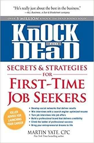 Free download Knock u0027em dead, secrets \ strategies for first-time - knock em dead resumes