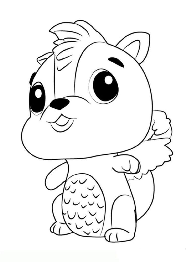 Hatchimals Skunkle Coloring Pages Coloriage Dessins