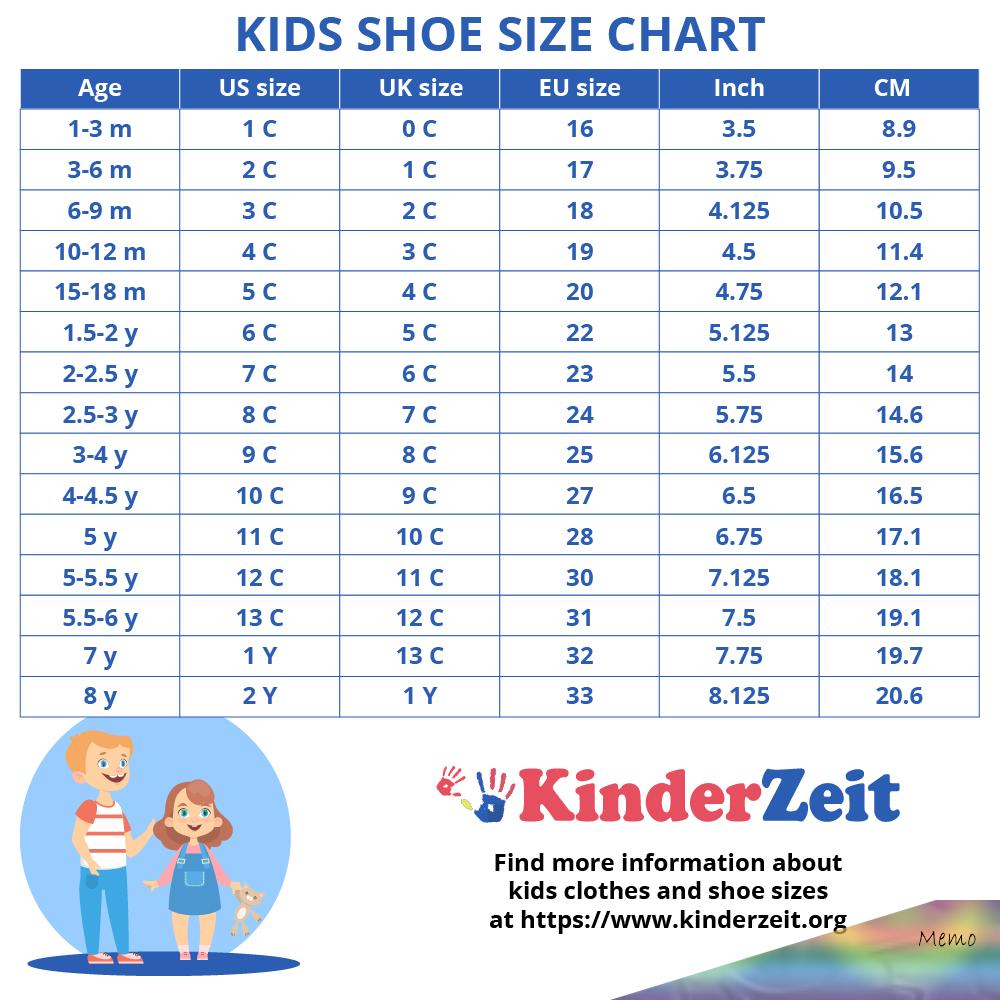 size 9 in eu kids