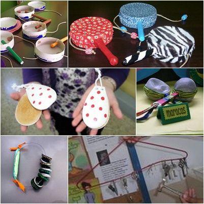 reciclaje caseros msica construir juegos reciclados reciclado buscar juguetes reciclados