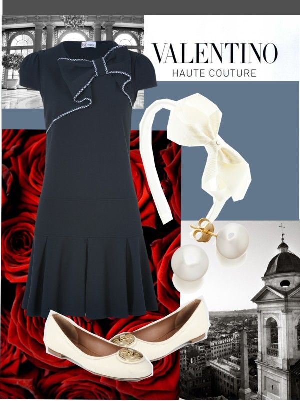 """""""Valentino Bows"""" by poloandpearls ❤ liked on Polyvore"""