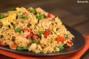 Clean Eating Chicken Fried Rice - Skinny Ms.
