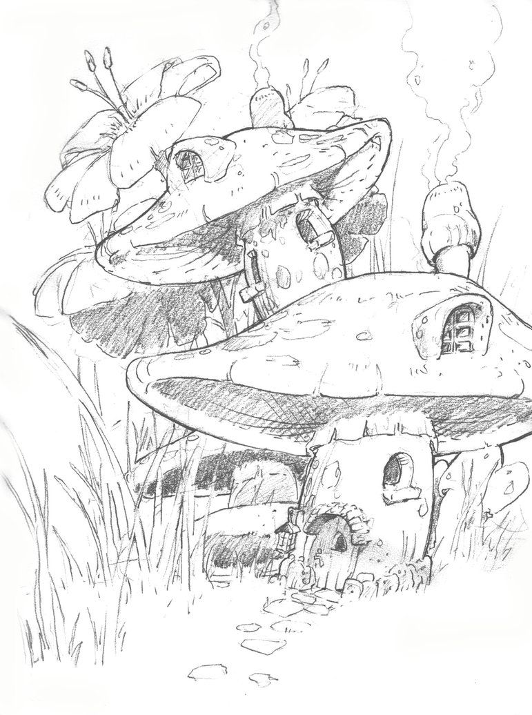 Fairy and mushrooms art sketches google search fairy garden