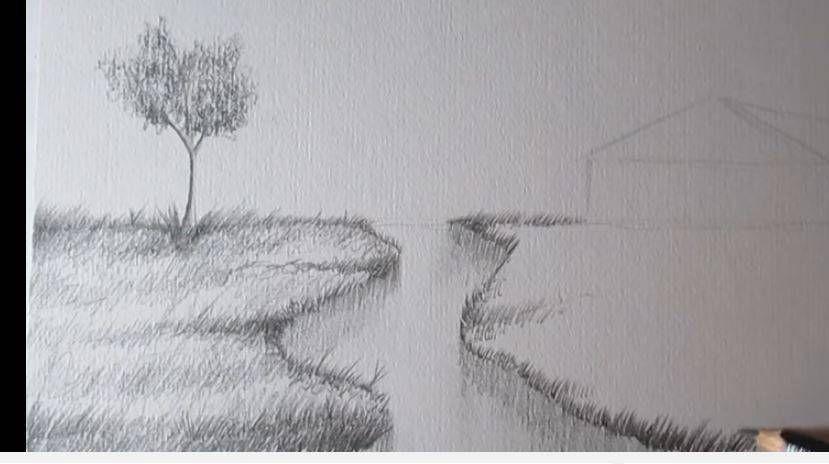 Paso 5 Para Aprender A Dibujar Paisajes A Lapiz Paisaje A Lapiz Aprender A Dibujar Como Aprender A Dibujar