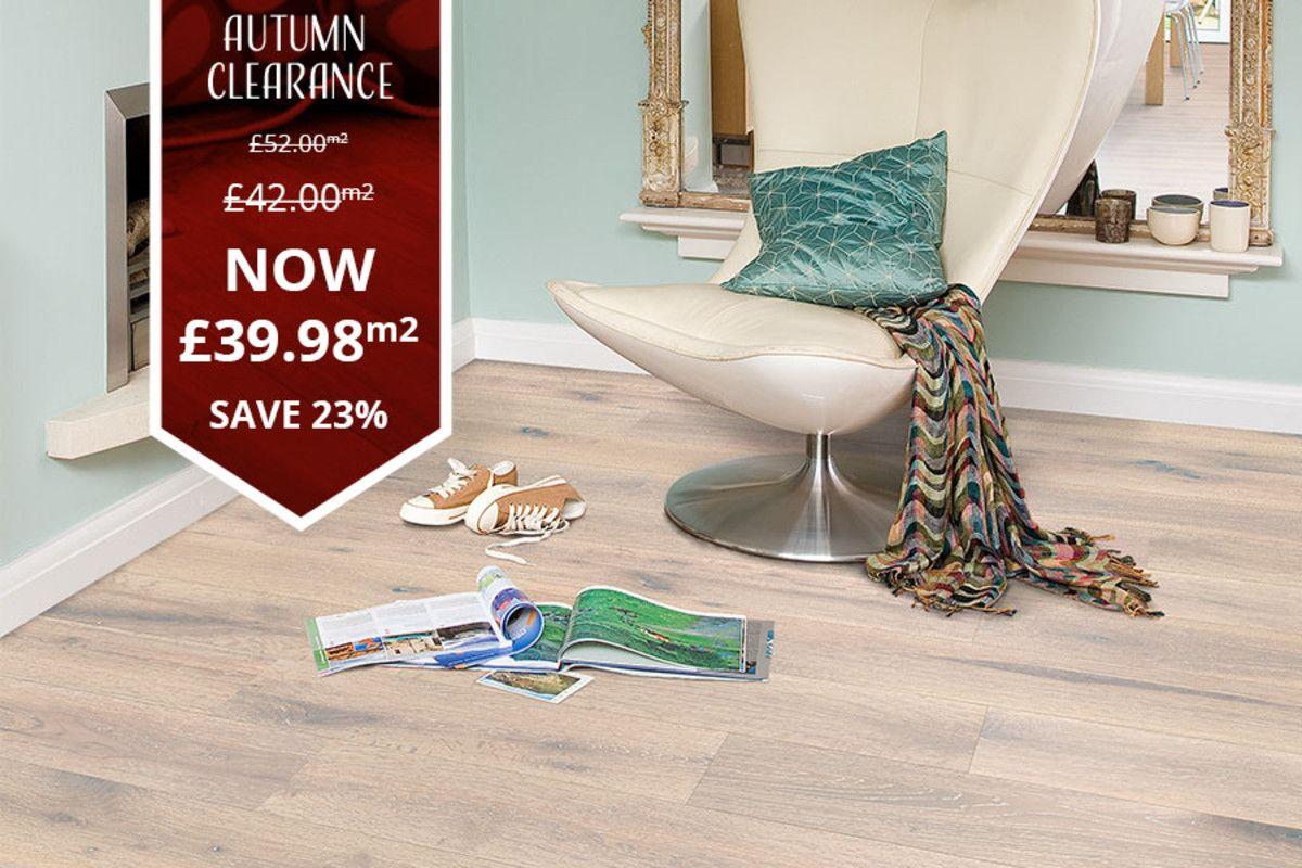 Galleria elite engineered oak flooring 190mm white bml