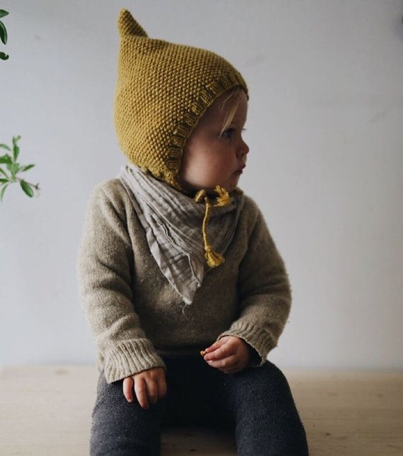 Knitted gnome pixie hat - honey bear | Zwergenmütze, Stricken und ...
