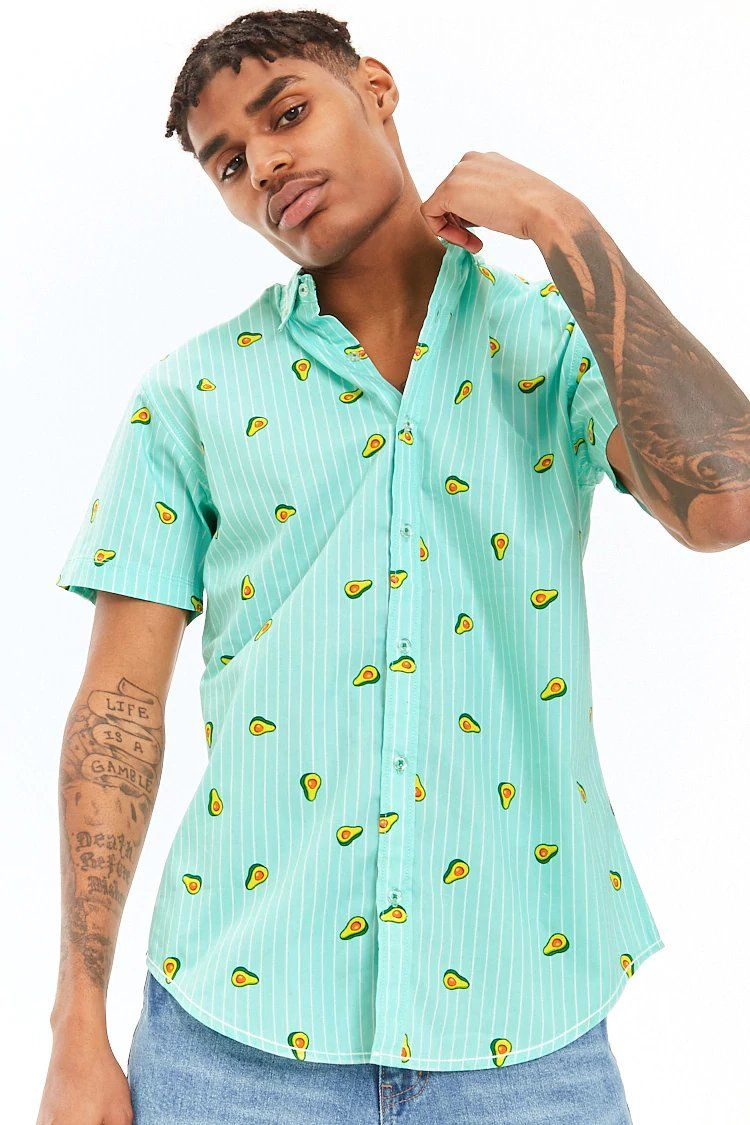 7207c12fd Product Name:Drill Clothing Striped Avocado Print Shirt,  Category:CLEARANCE_ZERO, Price:18