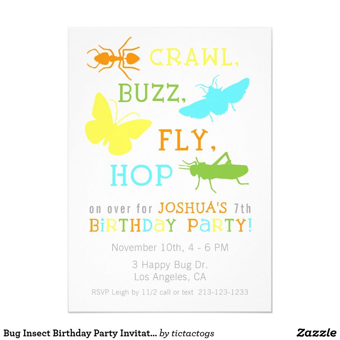 Bug Insect Birthday Party Invitation - Boy | { Happy Birthday ...