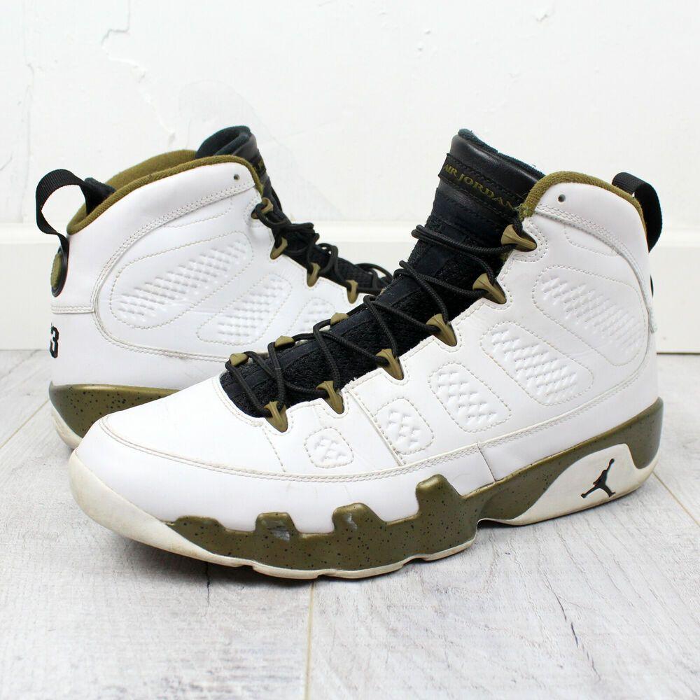 f5a40c78558 NIKE Air Jordan 9 IX Retro Statue Black-Militia Green Men's 302370-109 Size