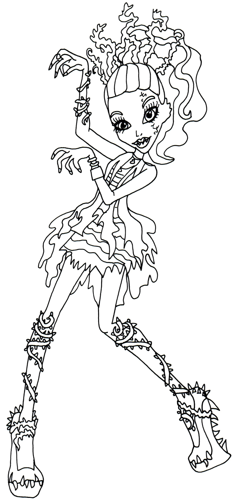 Venus Mcflytrap Zombie Shake Dance Monster High Coloring Page Png 762 1600 Coloring Pages Cartoon Coloring Pages Dance Coloring Pages