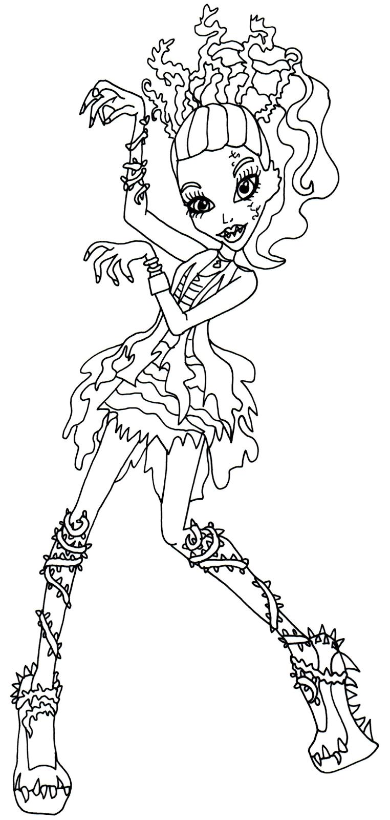 venus mcflytrap zombie shake dance monster high coloring page - Coloring Pages Monster High Venus