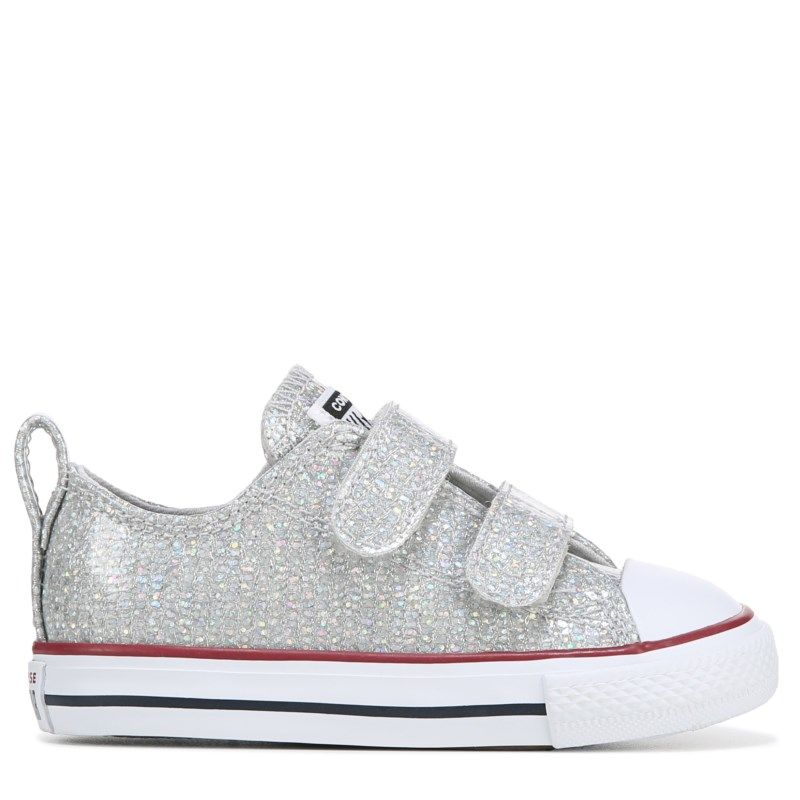 Kinder converse Silber All Star Lo Glitter Sneaker