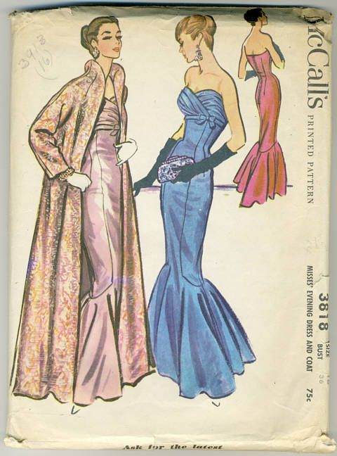 Mccall S 3818 Vintage Clothes Patterns Vintage Sewing Patterns