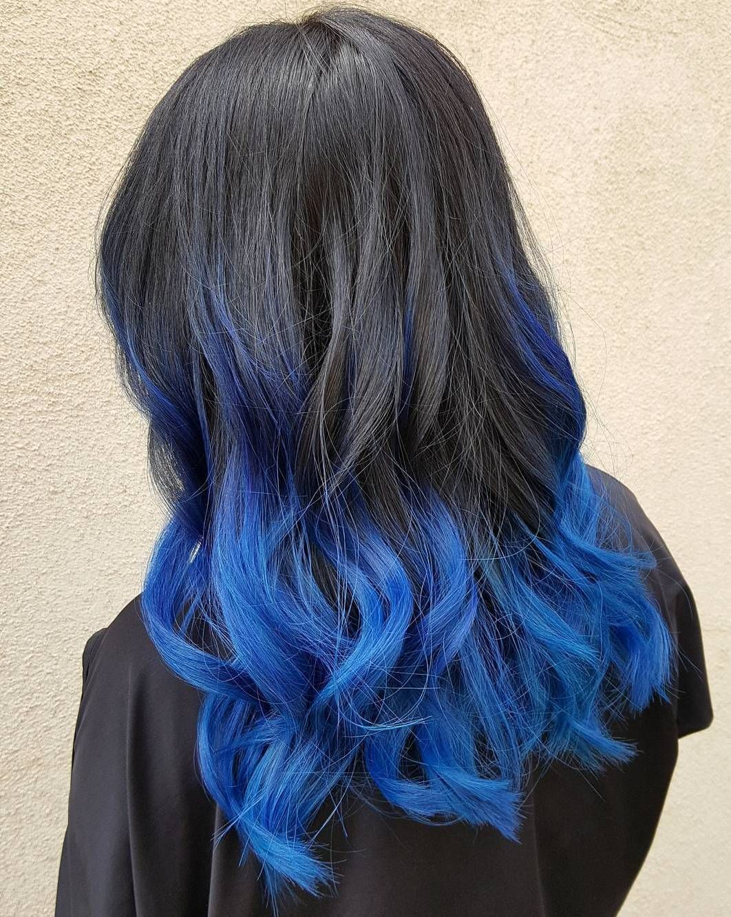 fairylike blue ombre hairstyles balayage highlights balayage