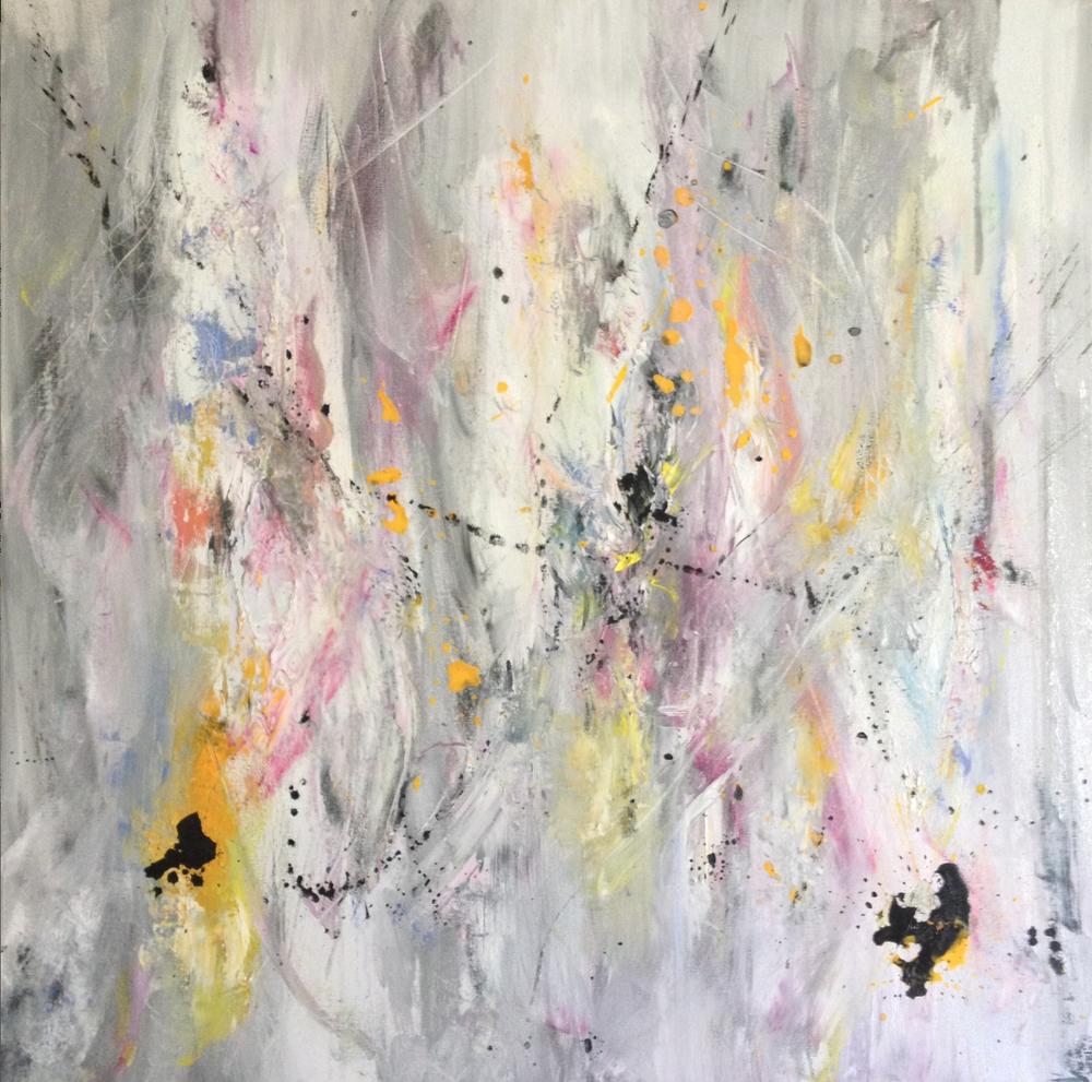 "30x30""Original Mixed Media on Canvas.Laura Viapiano 2013"