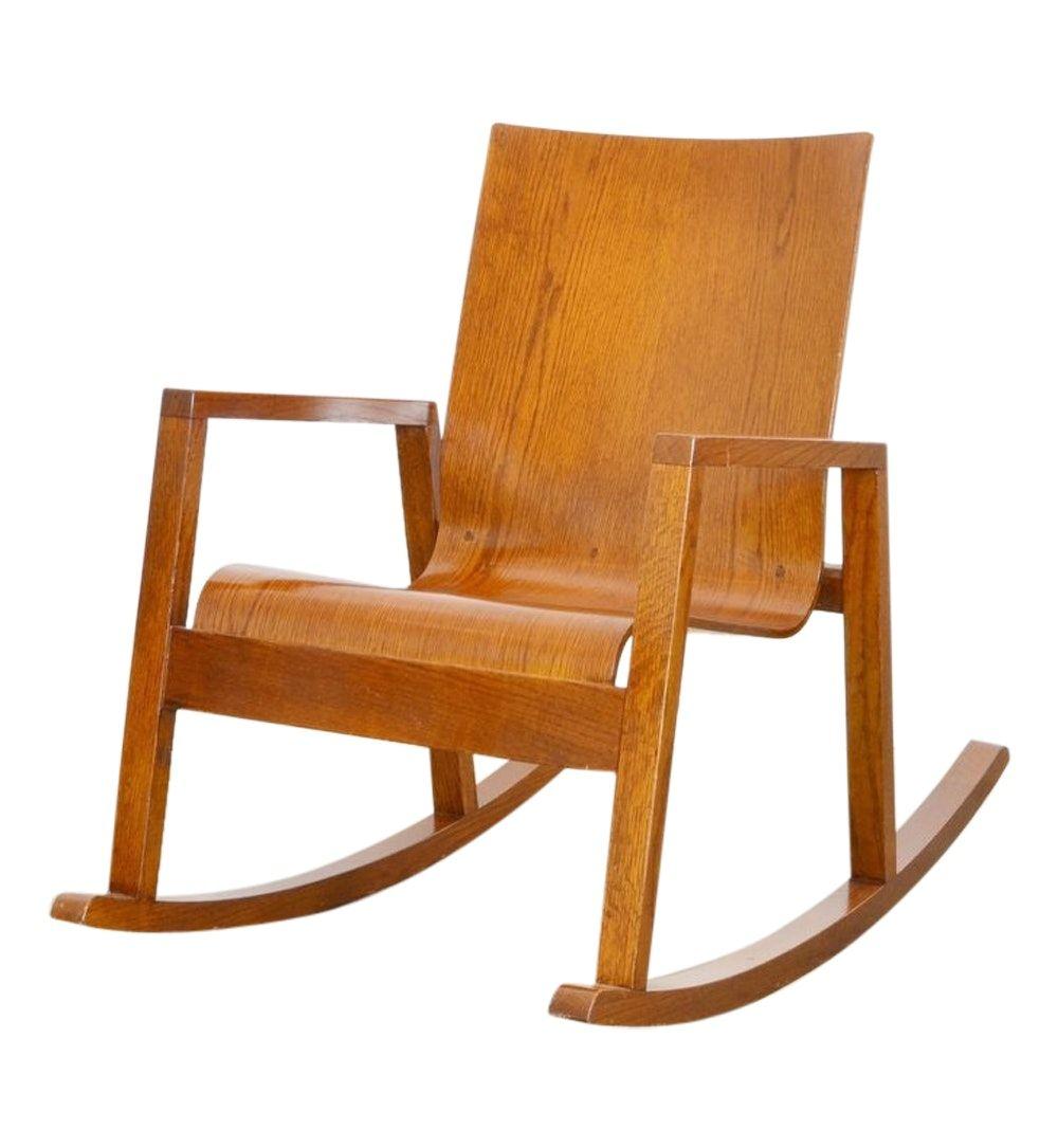 MARIO PRANDINA DONDOLO ROCKING CHAIR IN OAK  Rocking chair