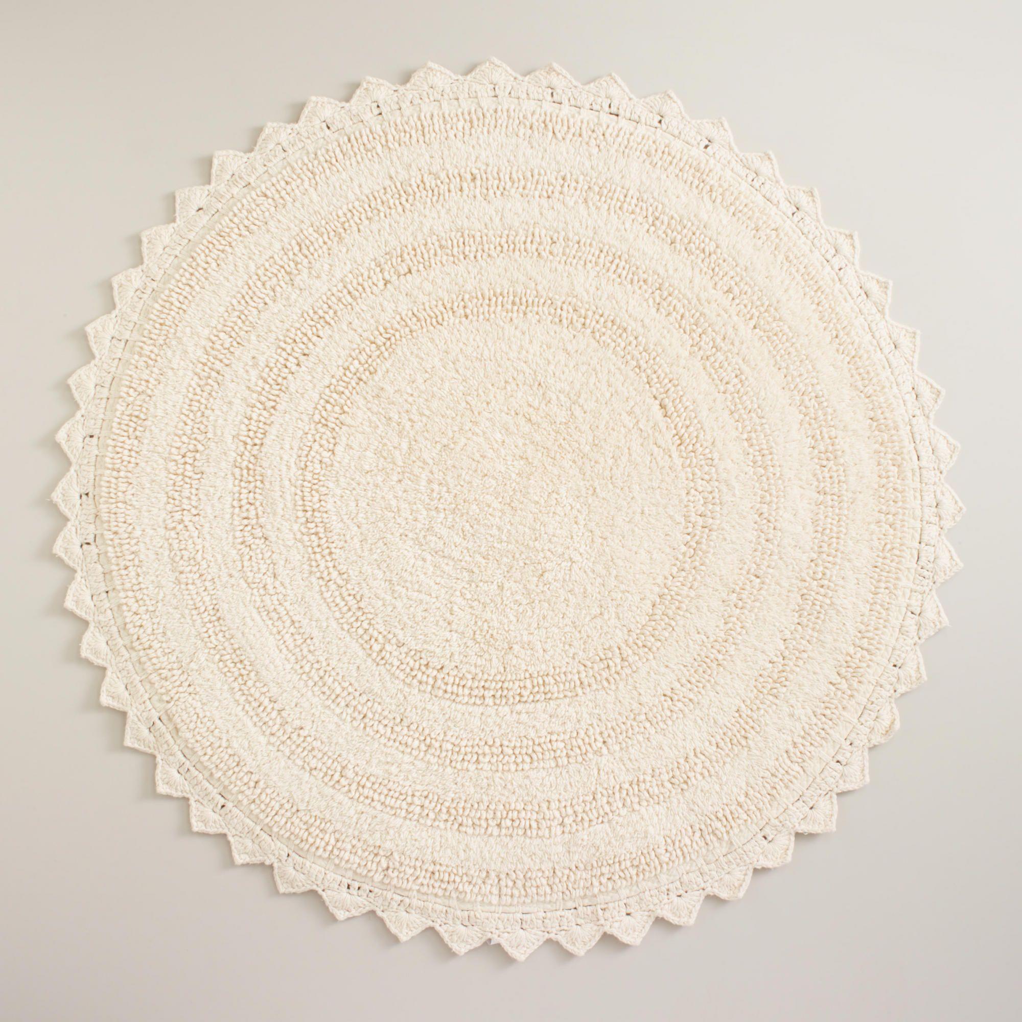 Round Outdoor Rugs Design 426993 Round Bath Mat 24in Cream