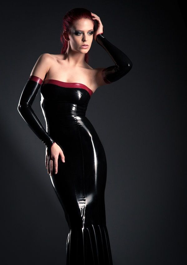 Evening gown by LizzyMeow | Bridesmaid | Pinterest | Latex, Gowns ...