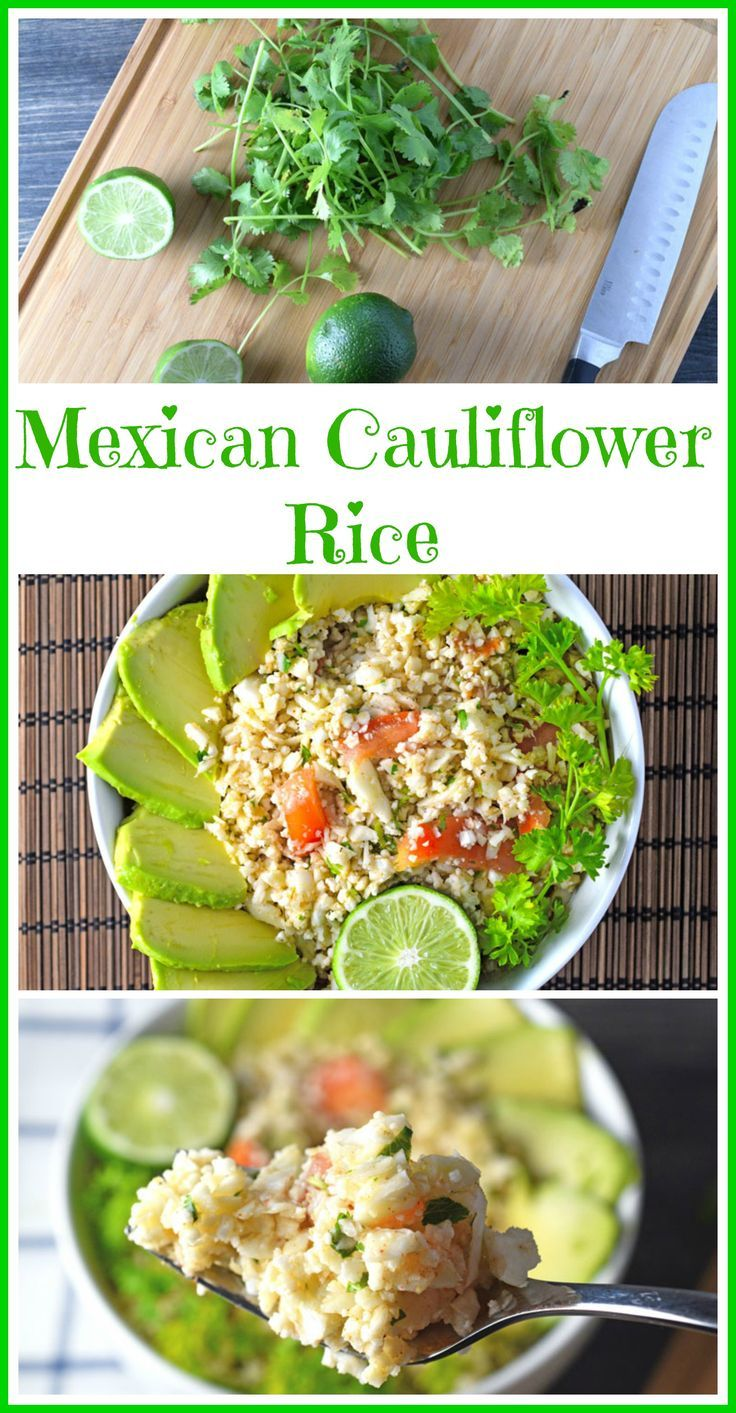 Easy Quick Cauliflower Rice Made With A Mexican Flare Raw