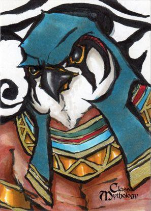 Horus Sketch Card - Matthew J Fletcher by *Pernastudios on deviantART