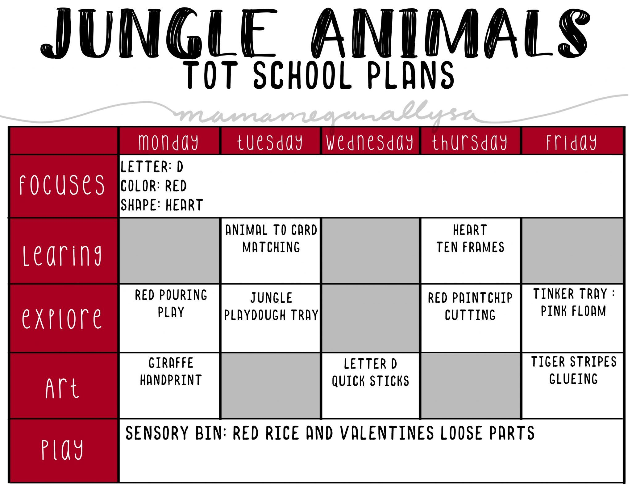 2020 February Tot School Plans In 2020  With Images