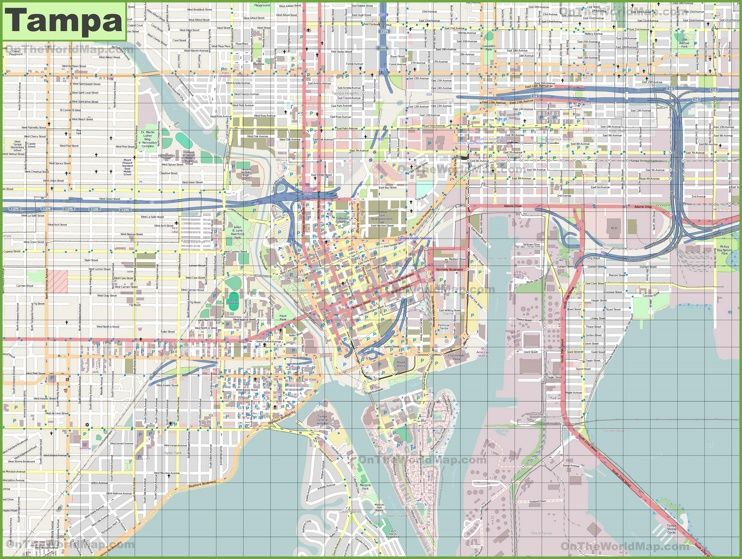 Large detailed map of Tampa   Maps   Map