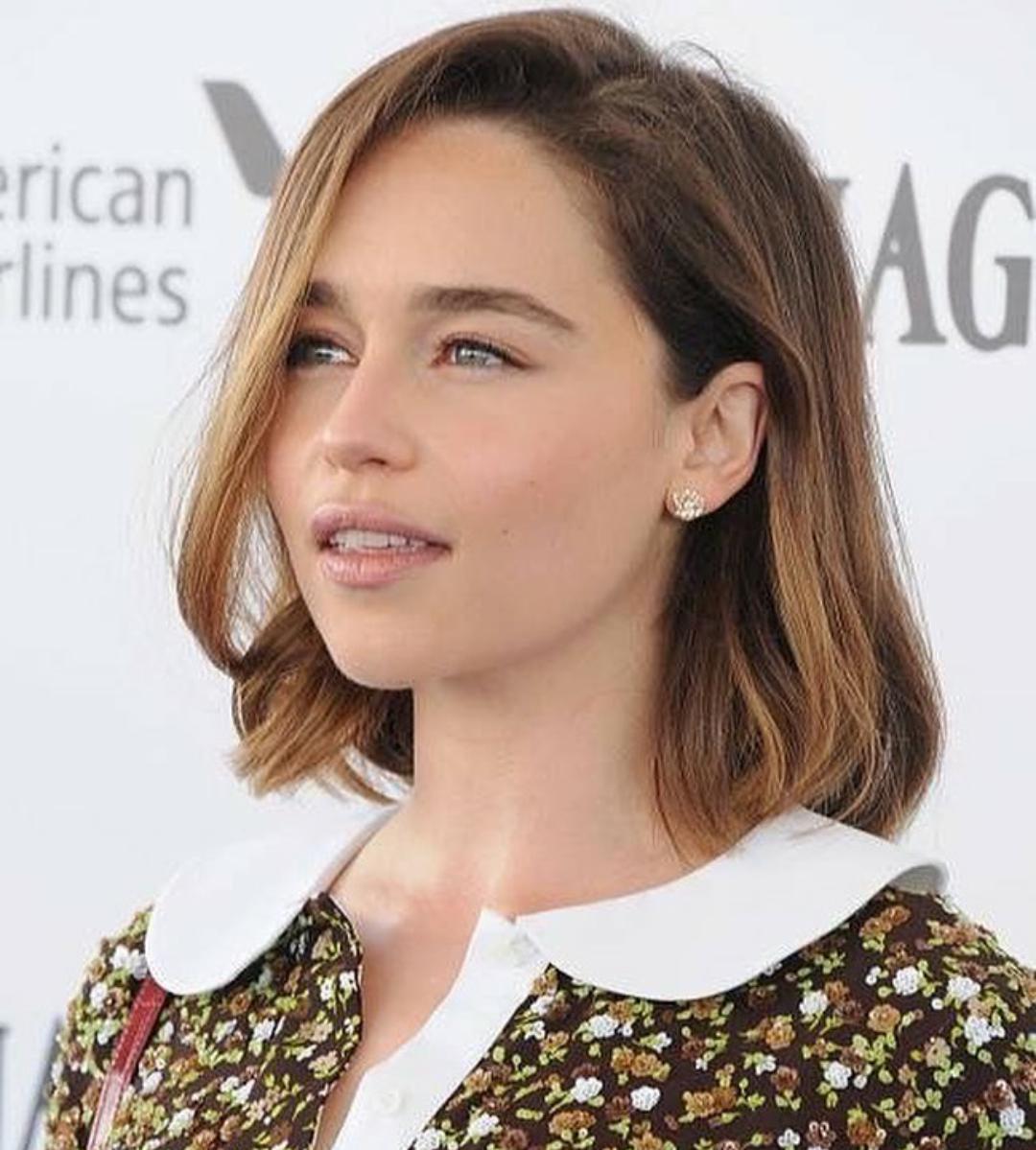 Emilia Clarke Emilia Clarke Hair Emilia Clarke Style Balayage Straight Hair