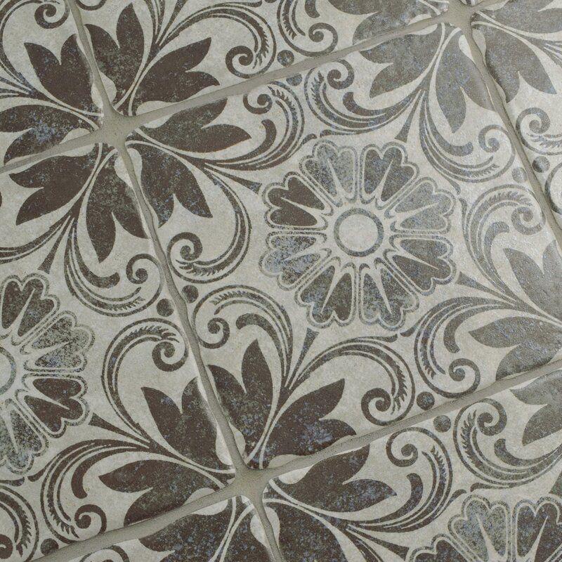 Elitetile Diego Decor Dahlia 8 X 8 Ceramic Field Tile Reviews Wayfair In 2020 Flooring Ceramic Floor Wall Tiles