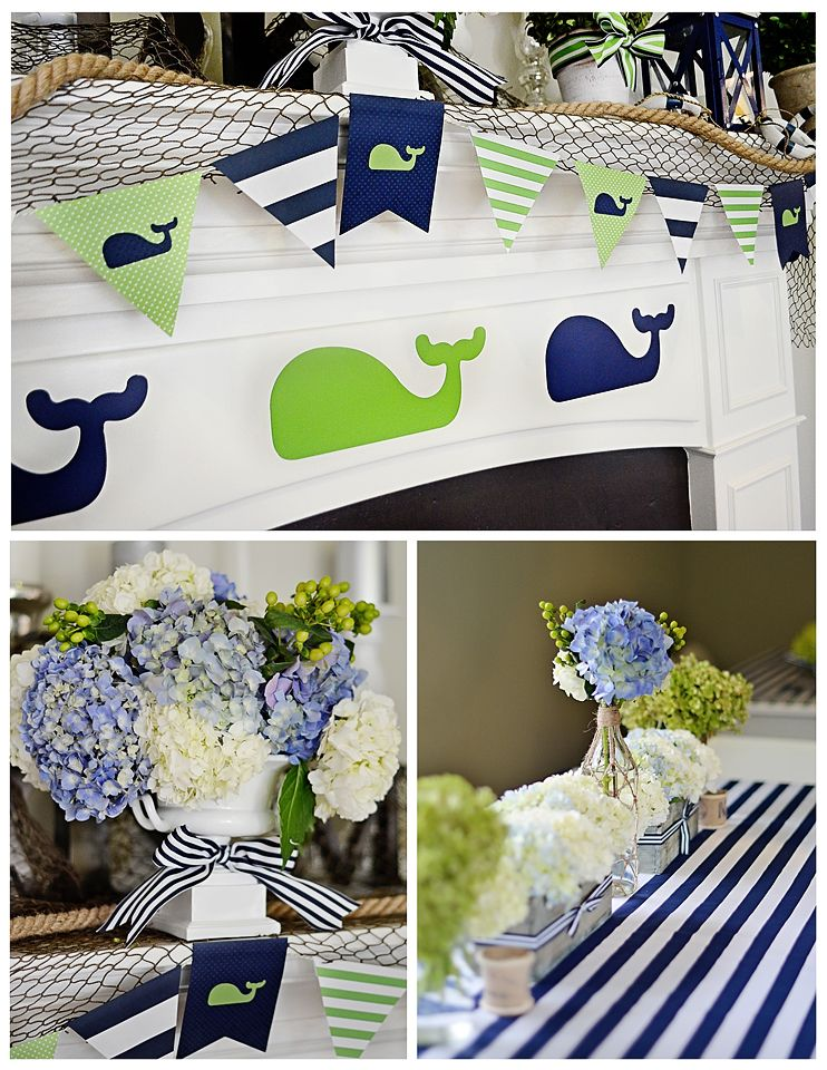 Maverick's 1st Birthday: A Preppy Whale Party