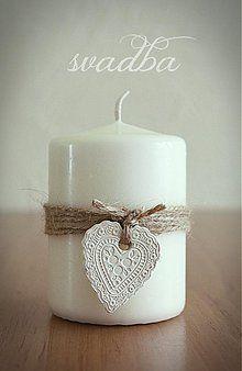 Darčeky pre svadobčanov - svadobná sviečka - 3754891_