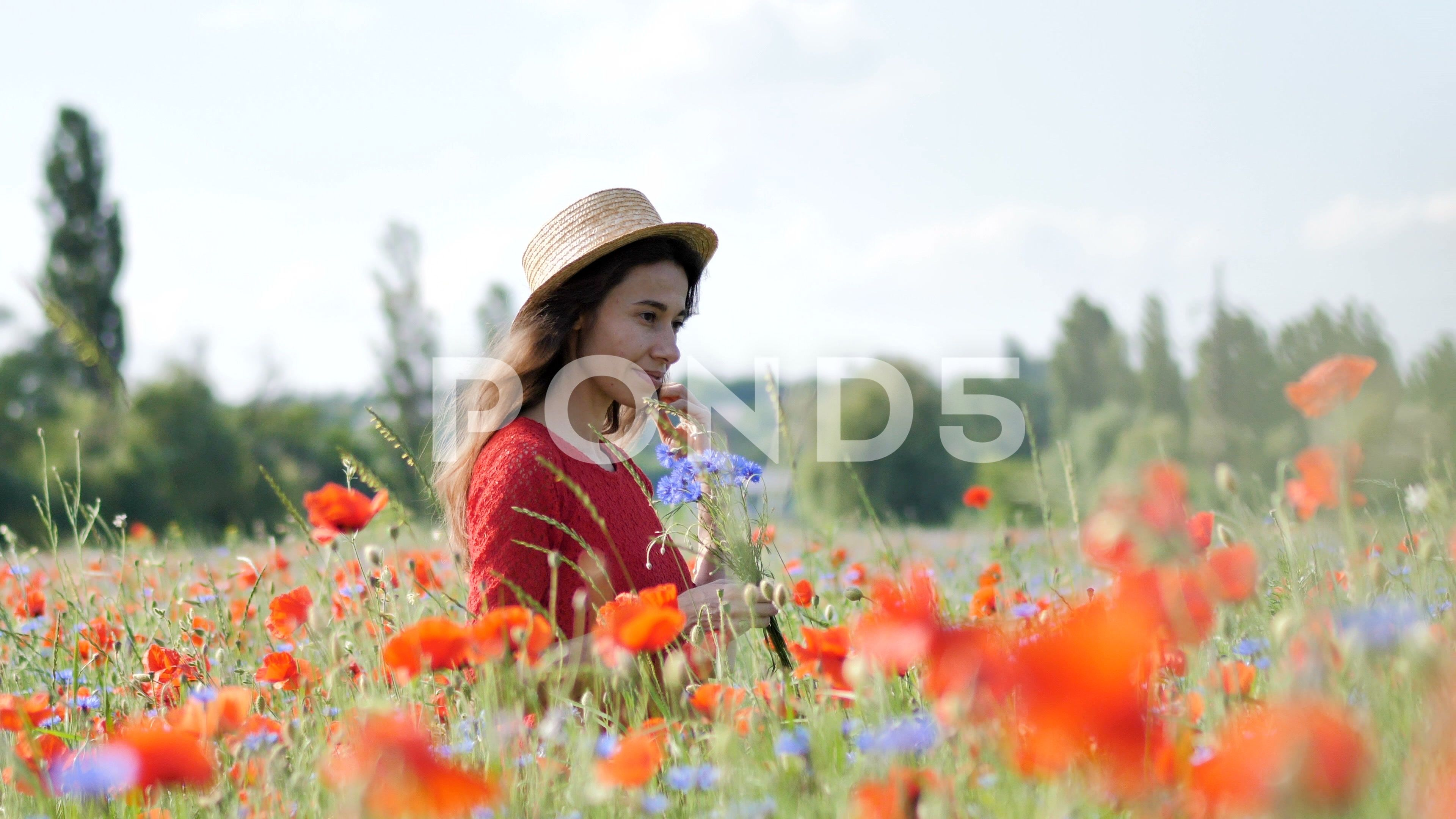 Free Happy Woman In Red Dress Enjoying Nature Beauty Girl Outdoor Walks On A Stock Footage Ad Red Dress Enjoying Fr Beauty Girl Happy Women Red Dress Women