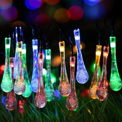 Solar Outdoor String Lights,GDEALER 20ft 30 LED Water