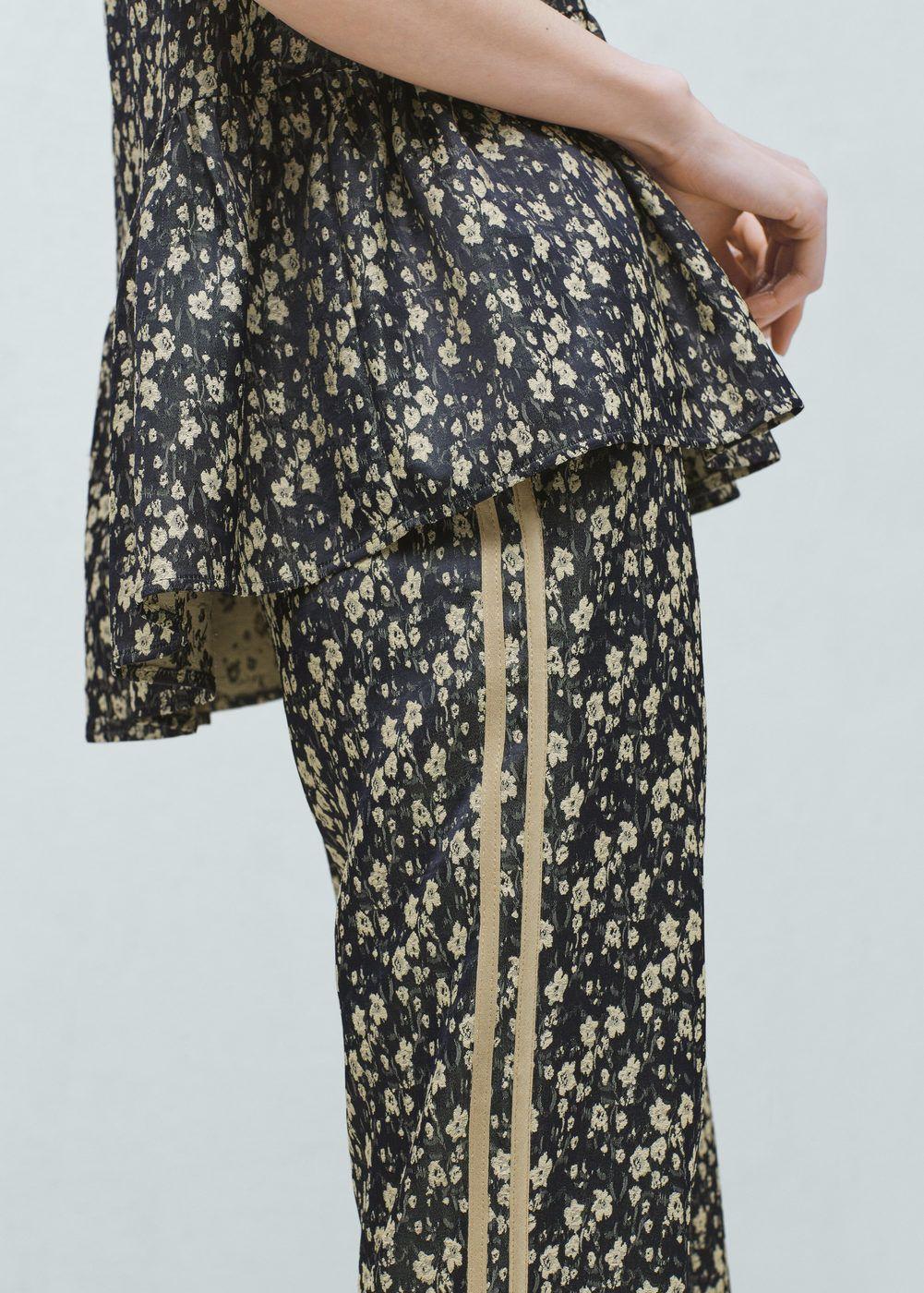 Pantalon imprimé floral | MANGO